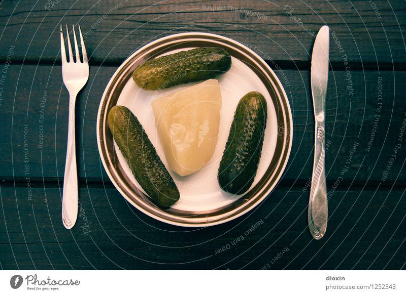Spreedorado | Breakfast Food Vegetable Cucumber Gherkin Pickles Nutrition Organic produce Vegetarian diet Diet Crockery Plate Cutlery Knives Fork
