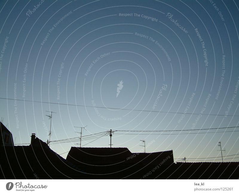 Sky Communicate Cable Roof Skyline Wire Dusk Antenna Alba Iulia