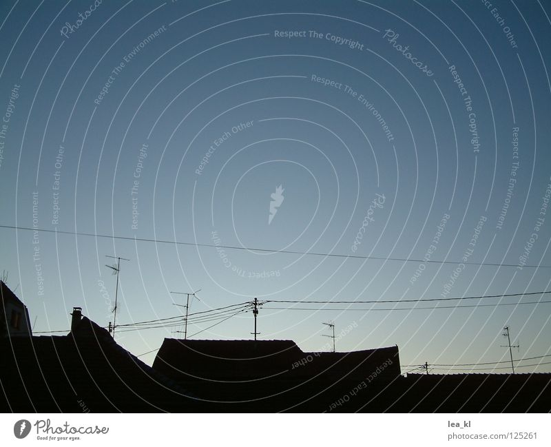 small-town skyline Roof Antenna Silhouette Wire Alba Iulia Communicate Skyline Dusk Cable Wissembourg