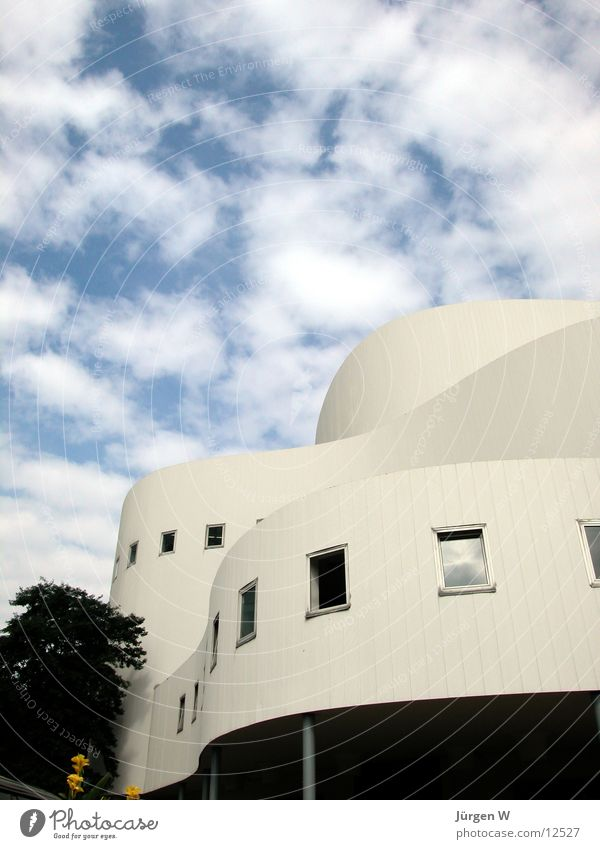 Vibrations 1 Theatre Swing Clouds Sky Architecture Duesseldorf oscillations