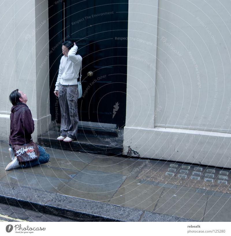 Human being Joy Love Street Cold Emotions Sadness Couple Rain Fear Wet Grief Pain Argument Distress Damp