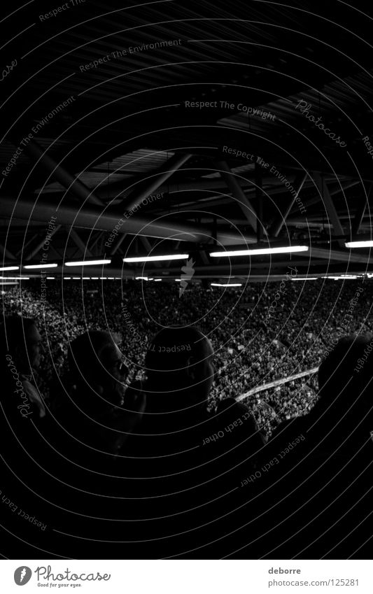 Right in the middle of it instead of just in there! Fan Great Britain Italy Rugby Stadium Wales Audience Black & white photo Group Sports Playing Ball Cardiff