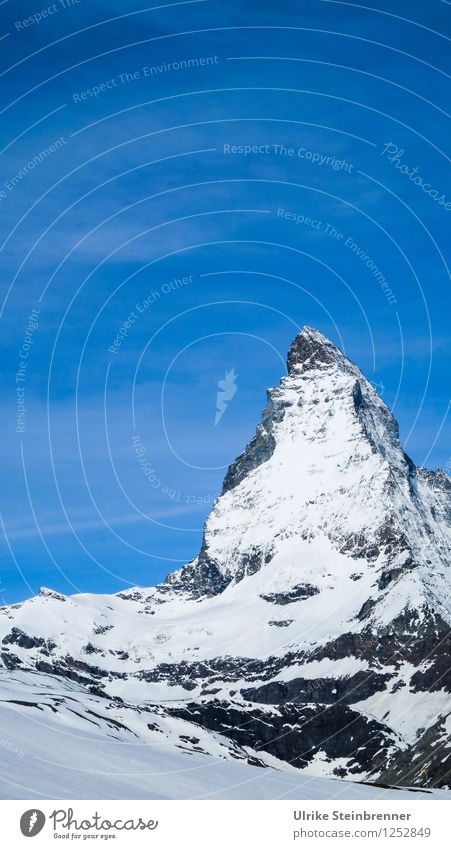 Summit cap 2 Vacation & Travel Tourism Trip Adventure Freedom Snow Mountain Environment Nature Landscape Sky Spring Beautiful weather Rock Alps Matterhorn