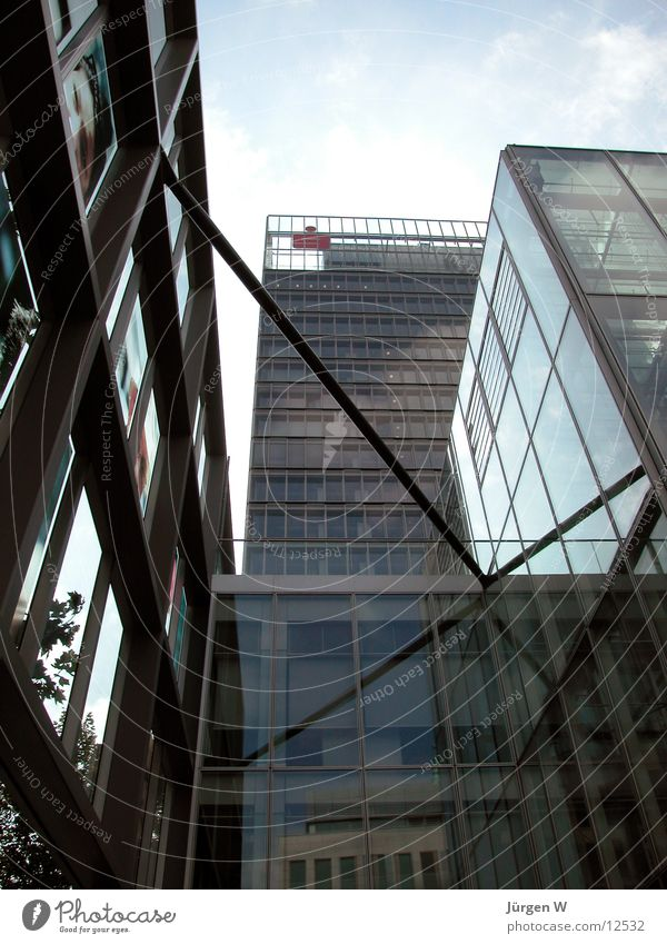 The power of money 2 Financial institution High-rise Sky Steel Architecture Duesseldorf Glass