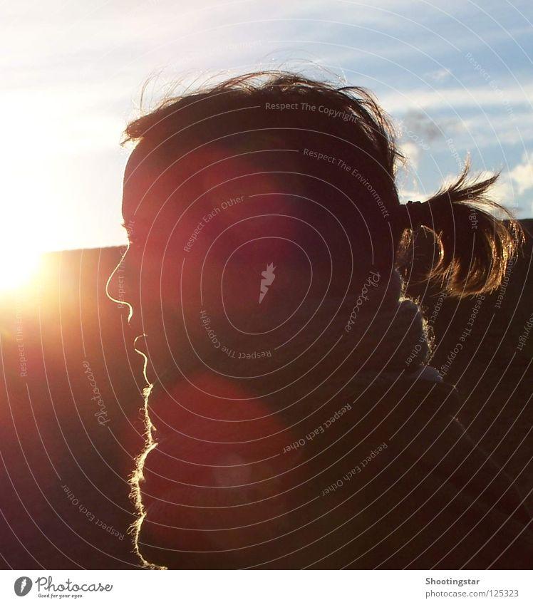 Woman Sun Face Warmth Lighting Glittering Physics To enjoy