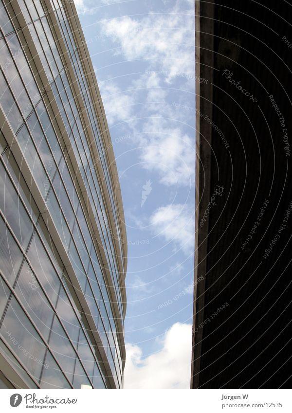Sky Blue Clouds Window Architecture Duesseldorf Spacing Graf Adolf Platz