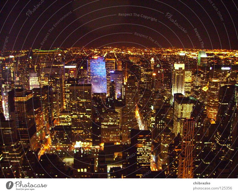 Street Architecture High-rise Night Building New York City Empire State building