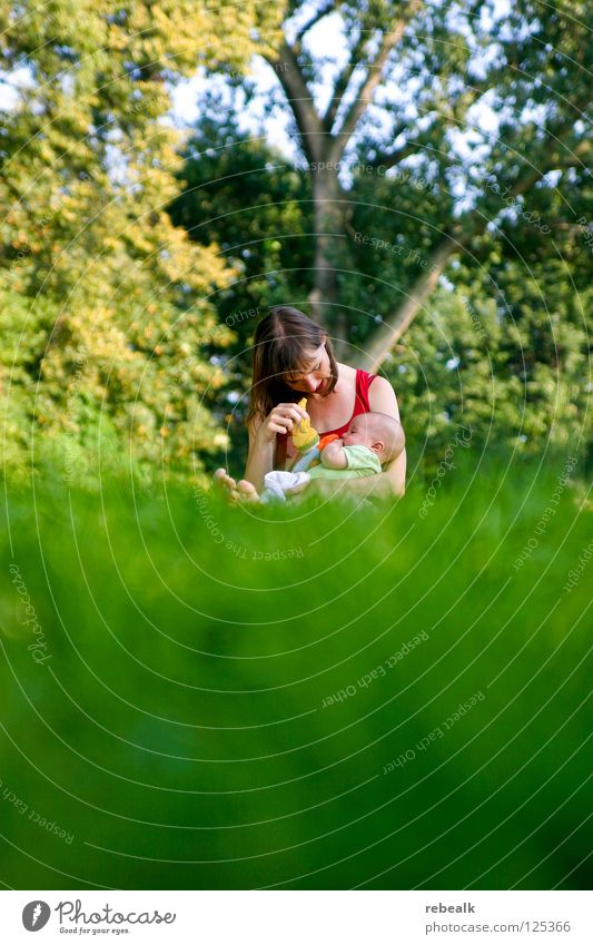 Woman Human being Child Nature Youth (Young adults) Green Tree Joy Adults Love Feminine Meadow Grass Happy Family & Relations Leisure and hobbies