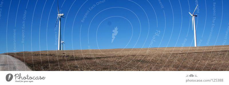 Sky Blue Autumn Lanes & trails Power Field Wind Energy industry Wind energy plant