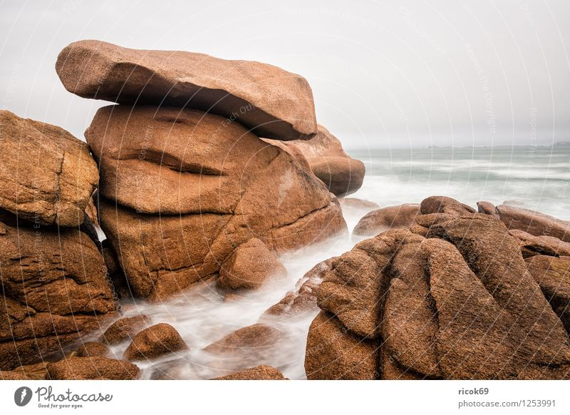 Atlantic coast in Brittany Relaxation Vacation & Travel Nature Landscape Clouds Rock Coast Tourist Attraction Stone Atlantic Ocean Ploumanac'h