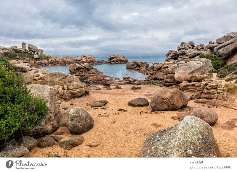 Atlantic coast in Brittany Relaxation Vacation & Travel Nature Landscape Clouds Rock Coast Tourist Attraction Stone Tourism Atlantic Ocean Ploumanac'h