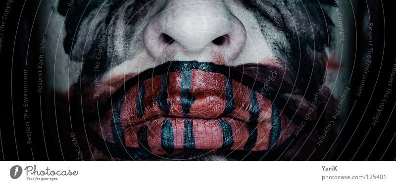 Blue Green Red Black Face Dark Gray Laughter Sadness Fear Mouth Nose Grief Bathroom Film industry Mask