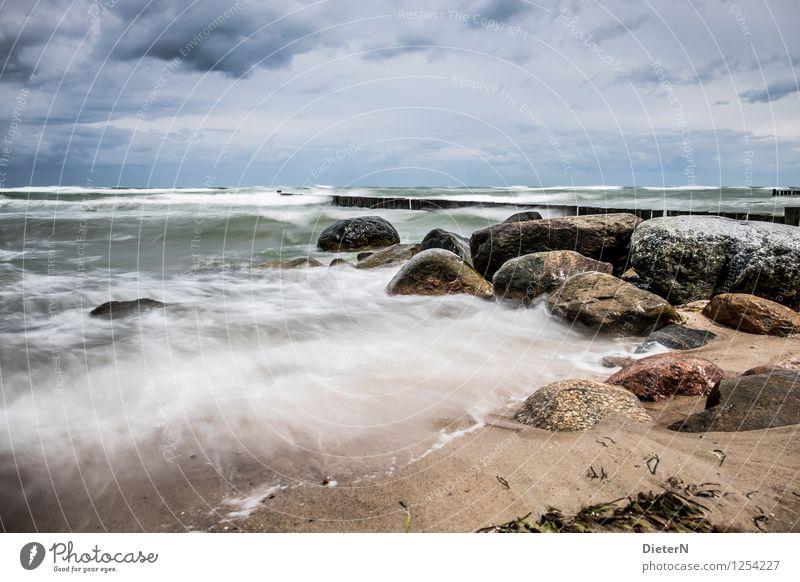 Sky Blue Water White Ocean Landscape Clouds Beach Environment Coast Stone Brown Sand Rock Horizon Wild
