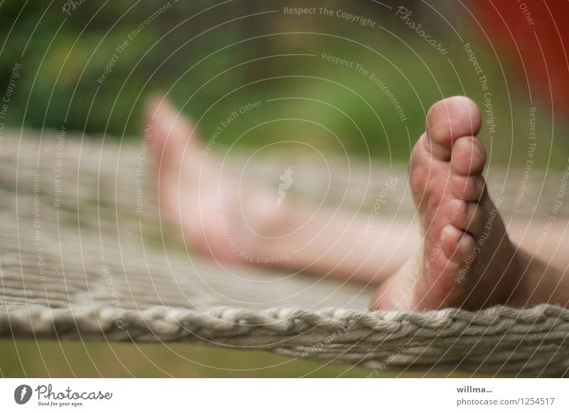 Vacation & Travel Relaxation Feet Leisure and hobbies Dirty Break Serene Boredom Toes Restful Hammock To swing Vacation mood Feet up