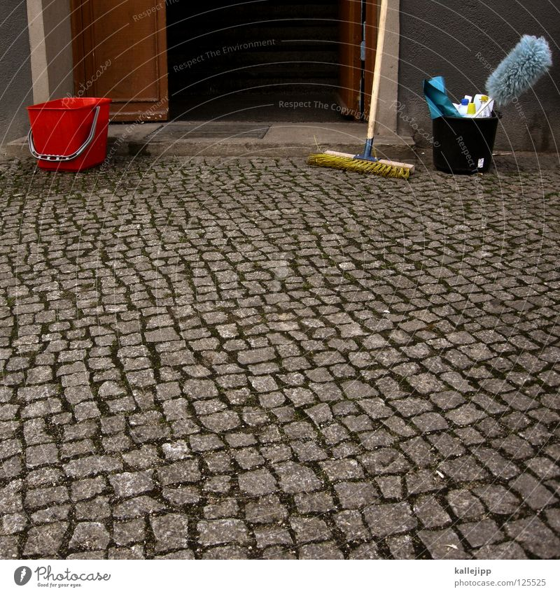Dirty Clean Cleaning Staircase (Hallway) Hallway Rent Calculation Tenant Broom Bucket Entrance Sponge Mathematics Janitor Feather duster