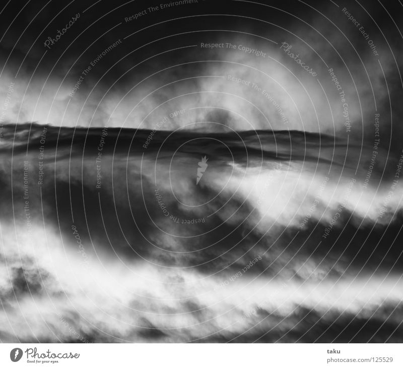 "WAVE AT THE SKY New Zealand Sunset Clouds Waves Impressive Might Soft Earth Emotions Penguin Sky p.b. Black & white photo ""cloud wave."" beautiful atmosphere"
