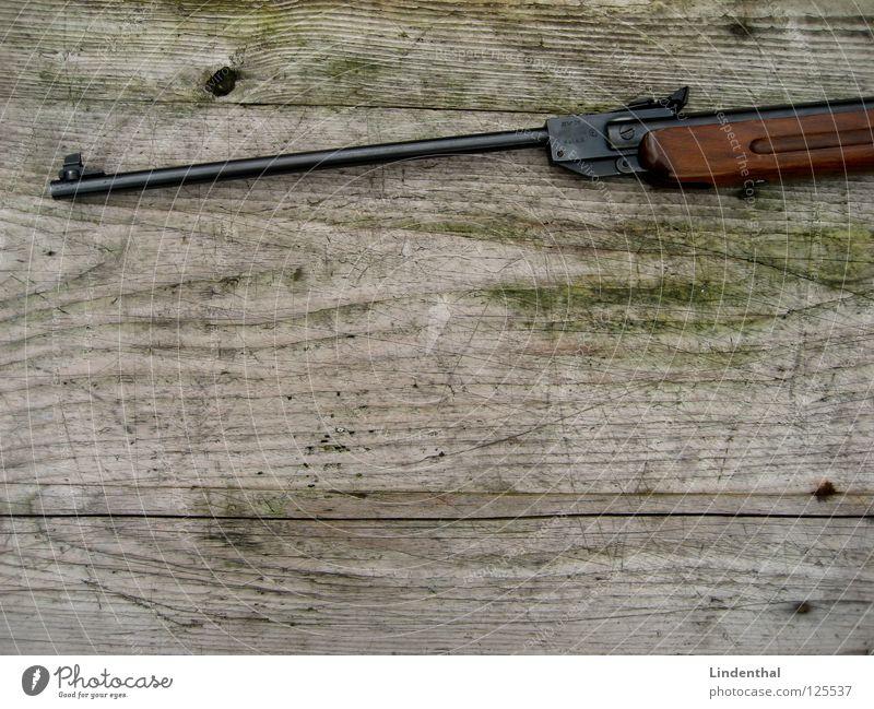 RIFLE I Table Wood Rifle Weapon Telescope Fear Panic Walking Target