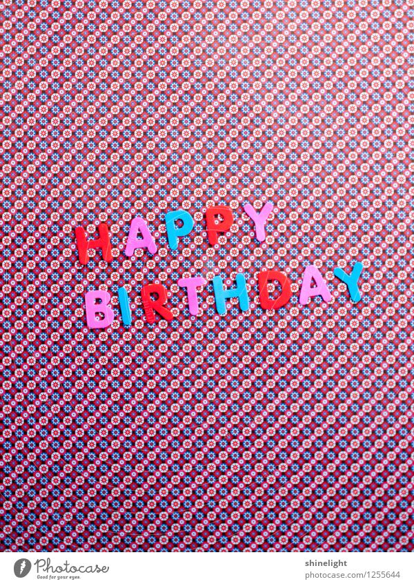 Happy Birthday Feasts & Celebrations Blue Multicoloured Pink Red Invitation Invite Congratulations Birthday wish Good luck All my love Colour photo