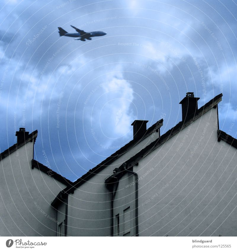 Sky Vacation & Travel Blue Beautiful White Clouds House (Residential Structure) Window Wall (building) Architecture Wall (barrier) Flying Living or residing Air Aviation Modern