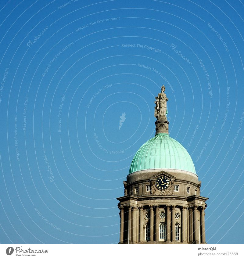 Custom House Dublin. How Manmade structures Statue Public agencies and adminstrations Government Green Clock Near Roof Bronze Platform Sandstone Building