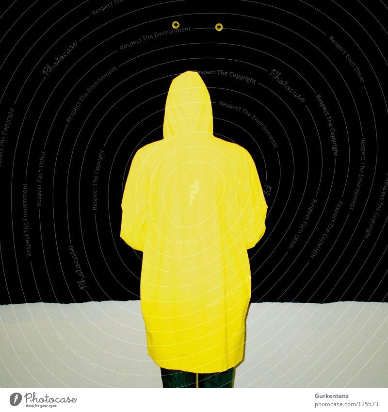Black Yellow Wall (building) Rain Art Clothing Culture Blind Rubber Work of art Denmark Felt Rain jacket Copenhagen Raincoat