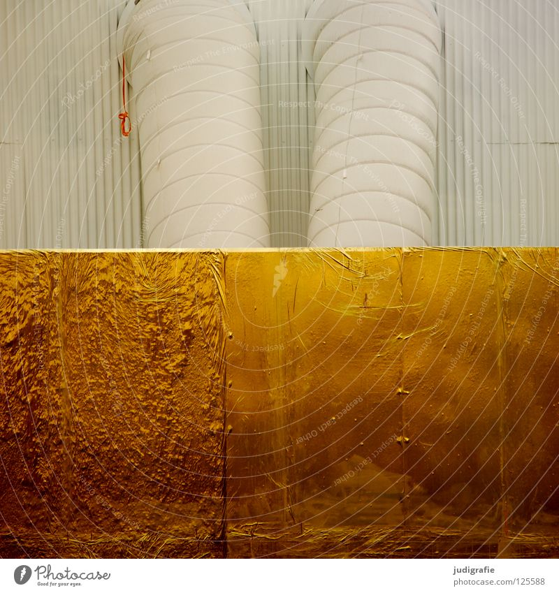 White Colour Wall (building) Building Line Glittering Gold Industry Climate Iron-pipe Warehouse Share Precious metal Ventilation