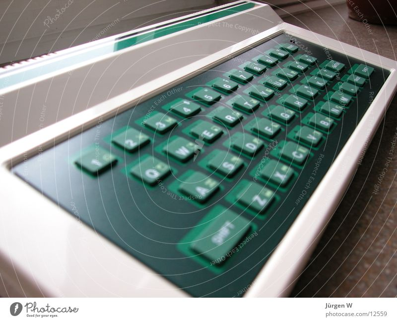 Old Green Computer Technology Keyboard Electrical equipment Stone Age
