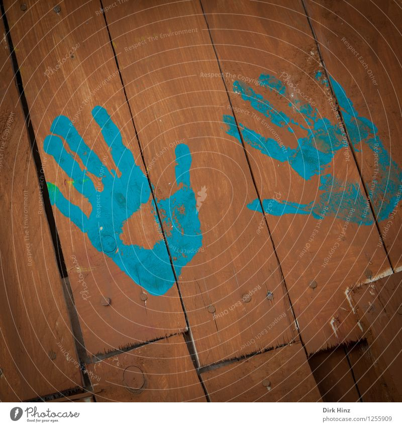 permanent impression Human being Hand Playing Authentic Uniqueness Natural Blue Brown Life Colour Joy Identity Contact Creativity Finger paint