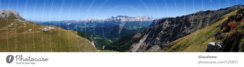 Mountain Hiking Italy Alpine pasture Mountain range Monastery Dolomites South Tyrol Geisler range Puez-Geisler Nature Park Gadertal