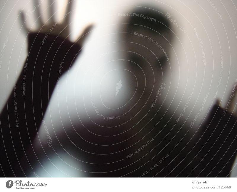 Woman Hand Black Loneliness Glass Transience Window pane Progress