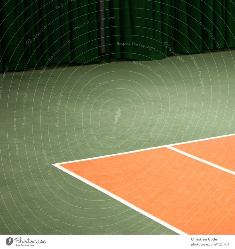 Double ceiling with curtain Tennis Carpet Winter Reserved Tennis ball Green White Speed Playing Tennis rack 2 Service Drape Triangle Sports Leisure and hobbies