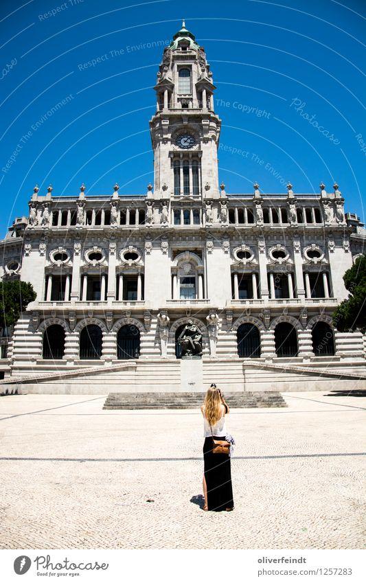 Porto VIII - Câmara Municipal do Porto Vacation & Travel Tourism Trip Sightseeing City trip Summer Summer vacation Human being Feminine Young woman