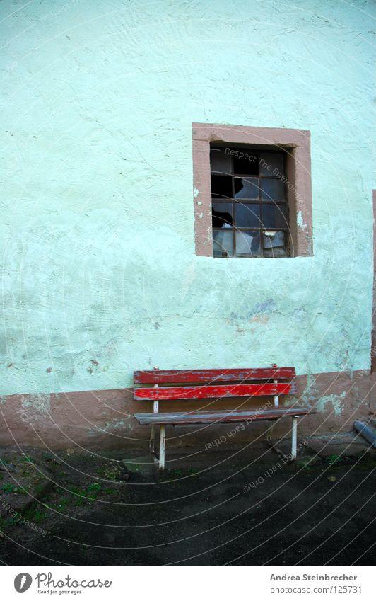 Rota Bank Calm Window Break Derelict Transience Bench Colour Contrast village life