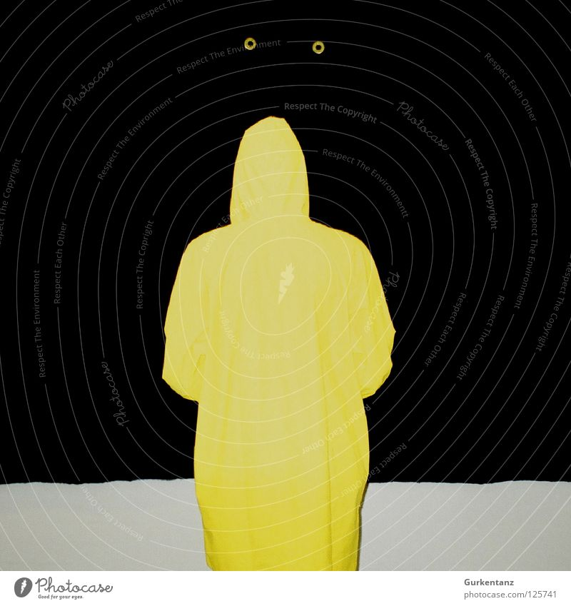 Black Yellow Rain Art Clothing Culture Concentrate Blind Rubber Visitor Felt Rain jacket Copenhagen Canopy Raincoat