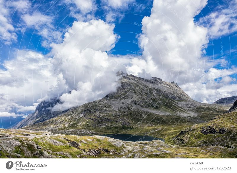 Nature Vacation & Travel Relaxation Landscape Clouds Mountain Idyll Scandinavia Norway Trollstigen Møre og Romsdal