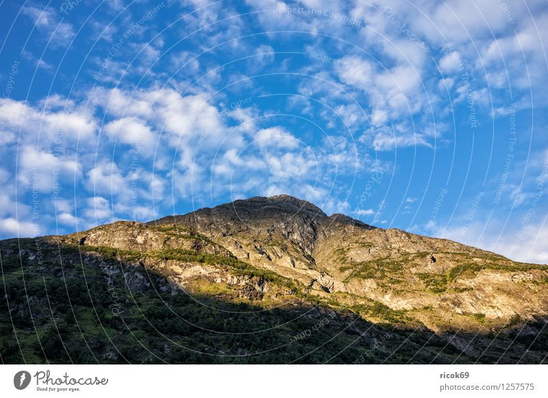 mountain Relaxation Vacation & Travel Sun Mountain Nature Landscape Clouds Idyll Norway Møre og Romsdal destination Sky voyage Scandinavia Colour photo