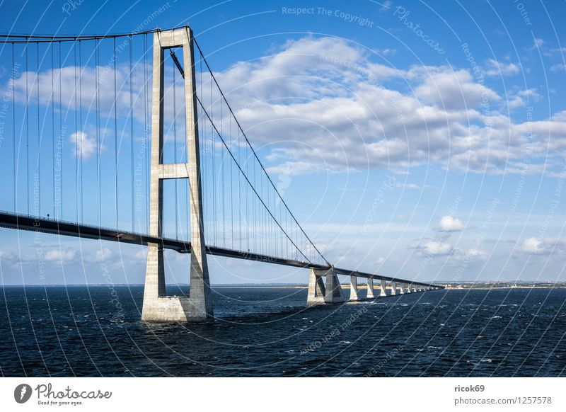 Öresund Bridge Nature Landscape Clouds Coast Baltic Sea Architecture Transport Mobility Lanes & trails Oeresund bridge Denmark Swede Copenhagen Malmo Tollbooth