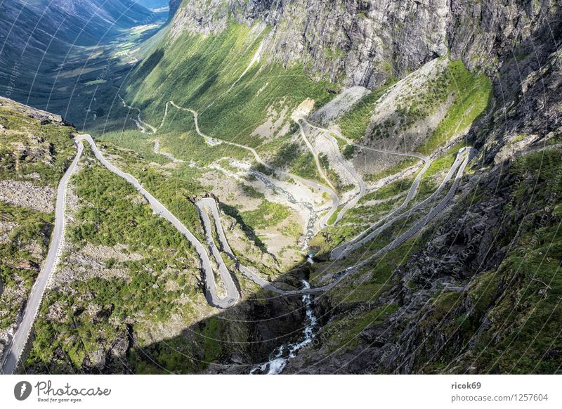 Nature Vacation & Travel Relaxation Landscape Mountain Street Idyll Scandinavia Norway Trollstigen Møre og Romsdal