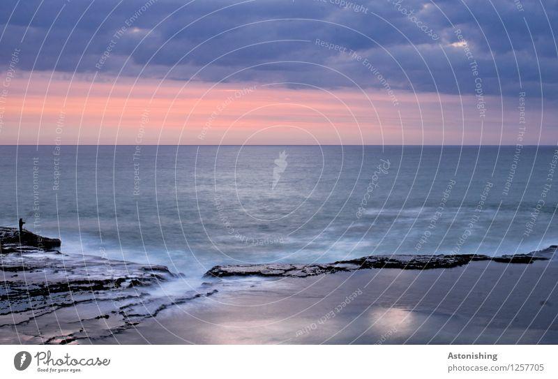 Human being Sky Nature Blue Summer Water White Ocean Landscape Clouds Dark Black Environment Coast 1 Stone