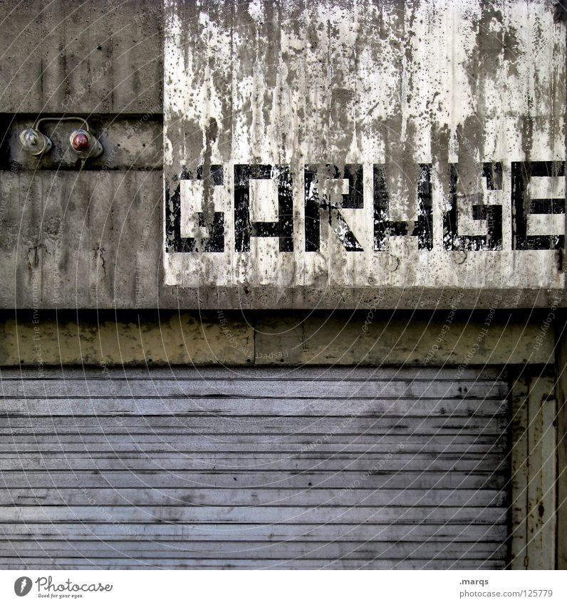 Old Loneliness Lamp Wall (building) Gray Dirty Signs and labeling Transport Facade Characters Letters (alphabet) Gate Derelict Signage Typography Word