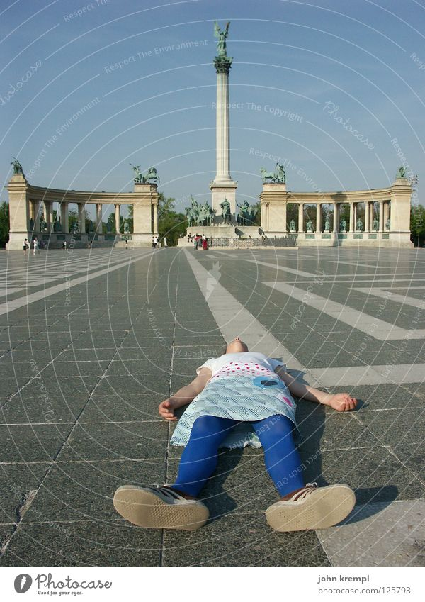 Death Freedom Lie Monument Traffic infrastructure Column Landmark Hero Corpse Peoples Budapest Hungary Epidemic Colonnades Hero's square