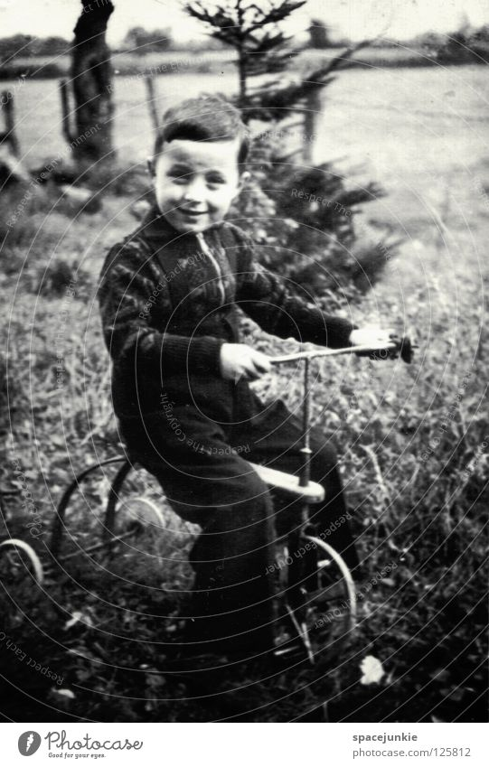journey through time Child Childlike Former Past Time Memory Events Photography Ancient Legacy Meadow Exterior shot Joy Boy (child) Black & white photo kin Old