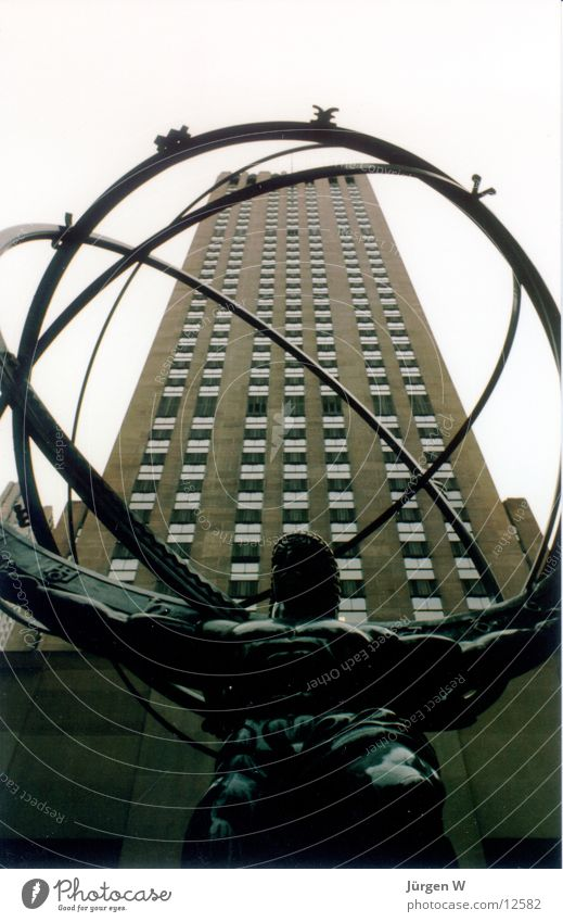 Atlas, New York Rockefeller Center New York City Americas Round Globe High-rise North America USA statute circle Ball building