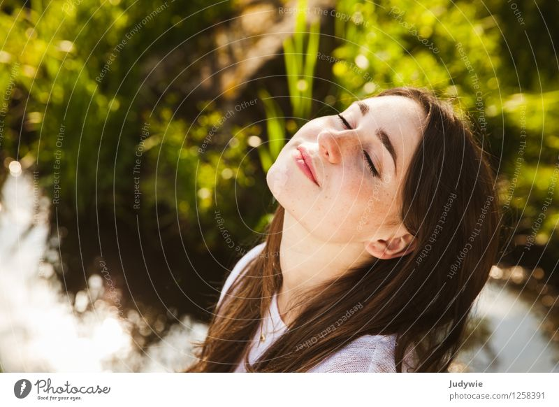 Human being Woman Nature Vacation & Travel Youth (Young adults) Beautiful Summer Young woman Relaxation Calm 18 - 30 years Face Adults Environment Natural Feminine