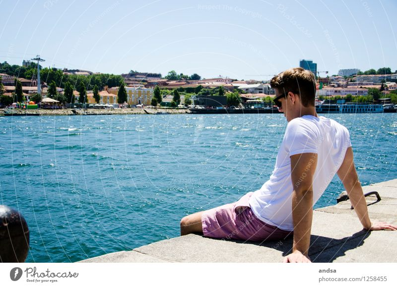 Porto III Human being Masculine Young man Youth (Young adults) 1 18 - 30 years Adults Landscape Cloudless sky Tree River Portugal Town