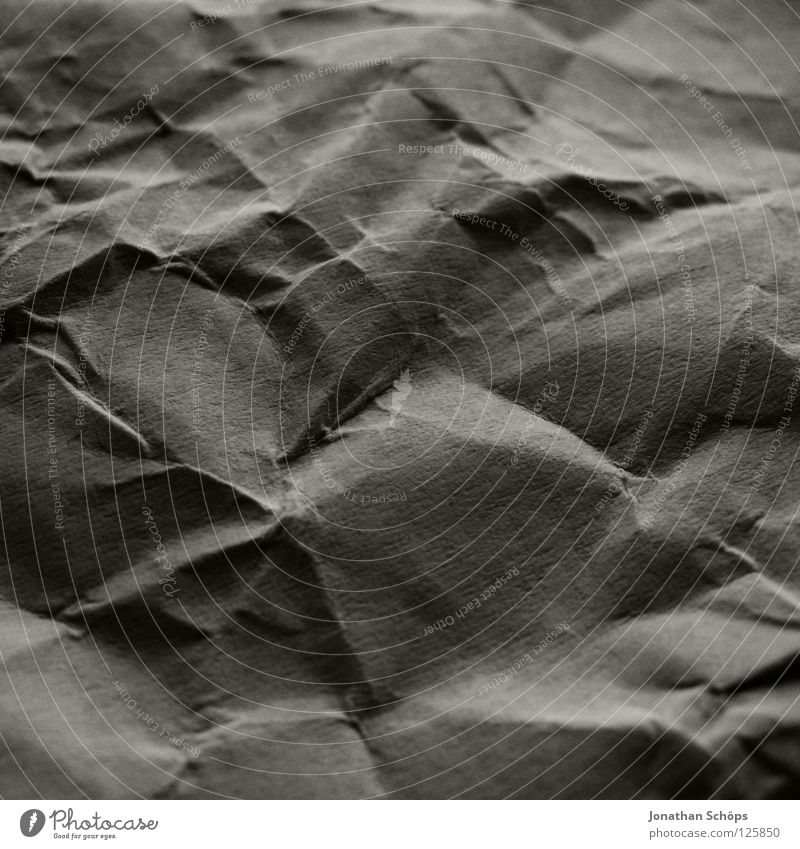 fully wrinkled Mountain Hill Canyon Paper Colour Cardboard Wrinkles Medium format Square Beach dune Structures and shapes Surface structure Frontal Dark Bend