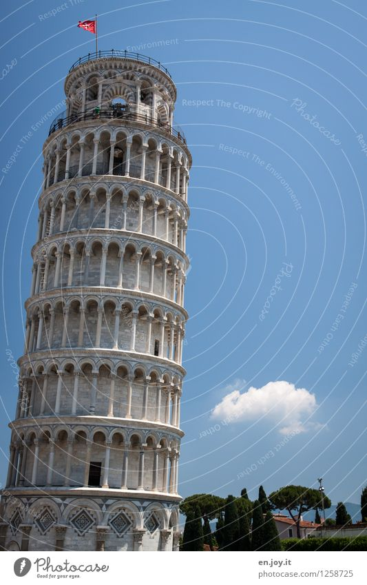 imperfect Vacation & Travel Tourism Trip Sightseeing City trip Summer vacation Sky only Pisa Tuscany Italy Tower Manmade structures Building Bell tower Column