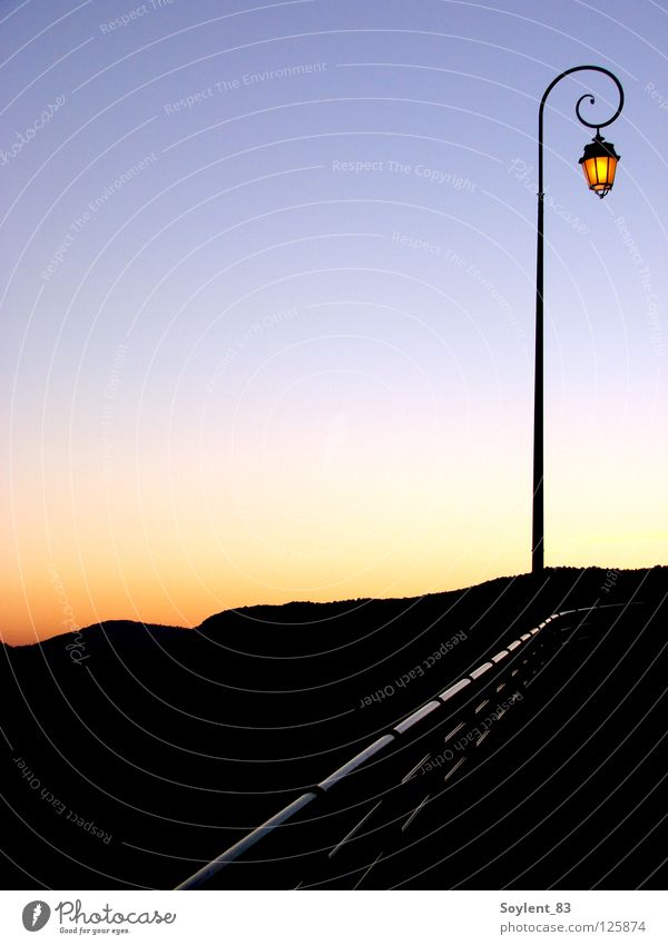 coucher de soleil Sunset Calm France Lantern Lamp Alpes mediterranean Light Exterior shot Detail Celestial bodies and the universe Idyll Mountain