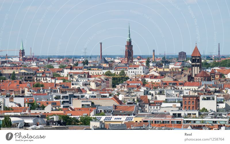 Sky Vacation & Travel City Red House (Residential Structure) Berlin Building Church Roof Capital city Downtown Sharp-edged Accumulation Populated Church spire