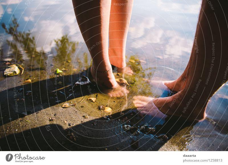 summer dreams Human being Nature Summer Relaxation Joy Life Coast Feminine Lifestyle Style Legs Freedom Lake Moody Feet Masculine